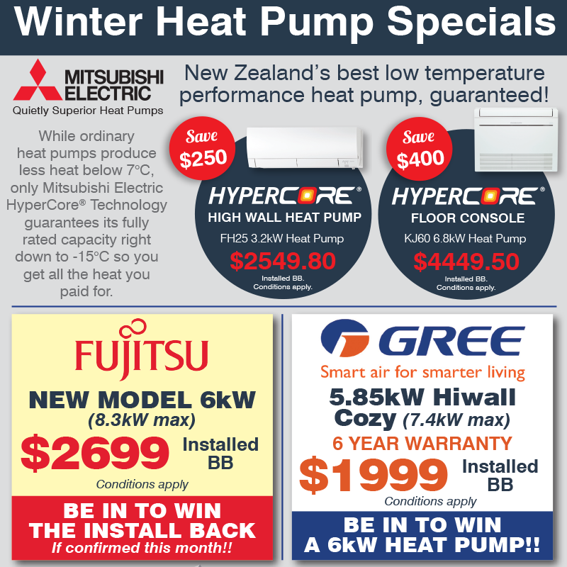 Winter Heat Pump Specials