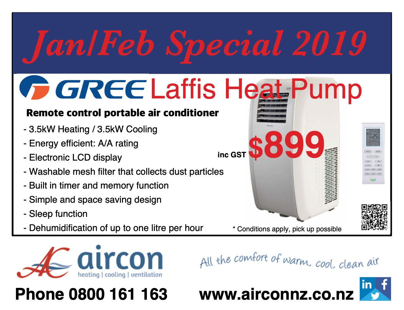 Specials, Don't miss out! | Air Con New Zealand